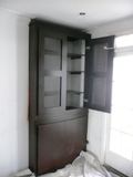 dark-stained oak wardrobes